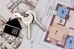 trousseau de clefs sur plan d'architecte