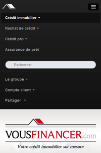 menu tactile vousfinancer.com