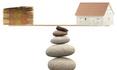 concept équilibre précaire prix immobilier